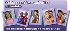 Adolescent immunization scheduler