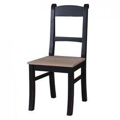 romantischer Stuhl schwarz, Esszimmer, Küche, französischer Landhausstil, Landhausmöbel, Farmhouse Style, Country Cottage, Kitchen, Einrichten, Wohnen, Vintage Möbel