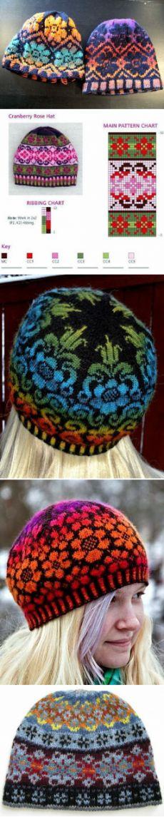 """""""Вязание в стиле Fair isle: снуды, шарфы, шапки..."""" (подборка + схемы)"""