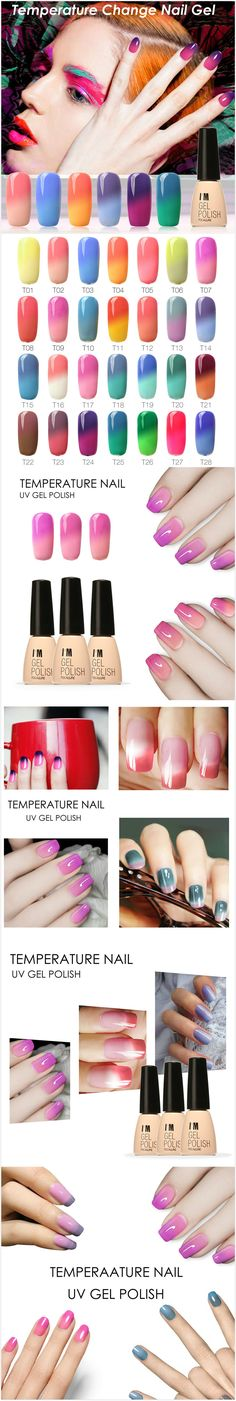 [$ 7.39]   7ml Temperature Color Change UV Gel Polish Nail Art Varnish 30 Colors