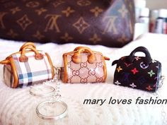Cute charms for keychain necklace burberry LV Gucii polymer clay