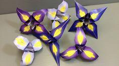 IRIS Make Your Own Origami Iris Flowers - Print at Home