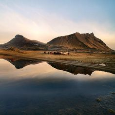 <3 This is Akrafjall, Akranes, Iceland.