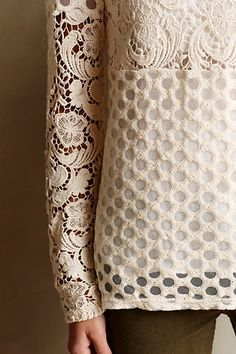 Laced Interlude Tee - anthropologie.com