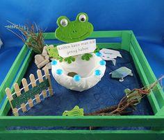 Jetzt noch ein paar Kröten falten wie hier beschrieben: http://tipps.bastelversand.de/geschenkidee-geldgeschenk-kroeten-falten/