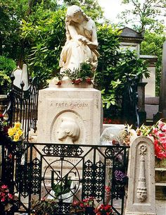 Chopin's Grave  Pere Lachaise Cemetery, Paris