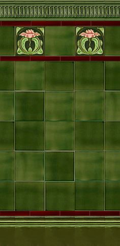 Verlegebeispiel F 72 V1, verlegebeispiel, f, 72, v1, art, nouveau, tiles, samples, wall, decorated