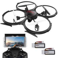 Quadcopter Drone FPV 720P HD Camera Headless Mode 3D Flip Application Control #QuadcopterDrone