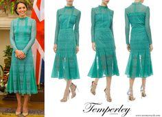 The Duchess of Cambridge wears Temperley London Lace dress. www.newmyroyals.com
