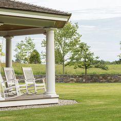 Victorian Porch by Roundtree Construction Gazebo, Pergola, Victorian Porch, Lake Champlain, Granite Stone, Love Garden, Maine House, Lawn, Around The Worlds