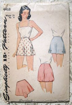 Vintage 40s Tap Panties and Bloomers. by sewvintagefashion on Etsy