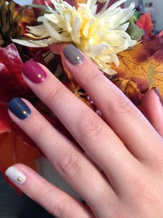 CND Shellac Indigo Frock, Cityscape, Tinted Love and Rubble w/ Matte finish by Jamie Tabbert