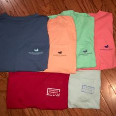 Long-sleeve Southern Marsh Pocket Tees No signs of damage or wear!! This is a great deal because they are normally $38 each! They are great for girls and boys. These can also be purchased individually if you would like. Southern Marsh Tops Tees - Long Sleeve