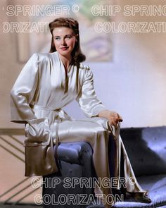 GINGER ROGERS in Sexy Silk Bath Robe |  Beautiful COLOR PHOTO by CHIP SPRINGER. Featured Ebay Listing. Please visit my Ebay Store, Legends of the Silver Screen, at http://legendsofthesilverscreen.com to see the current listings of your favorite Stars now in glorious color! Thanks for looking and check out my Youtube videos at https://www.youtube.com/channel/UCyX926rA5x4seARq5WC8_0w