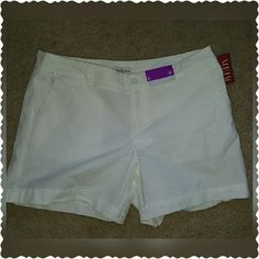Brand New Merona Shorts Brand new with tag merona white shorts sz 8. Shorts have 2 front and 2 back pockets and have stretch to hug your curves! Merona Shorts