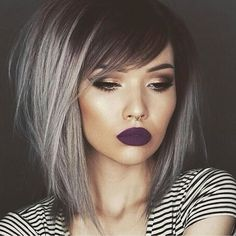 Sexy silver hair with shadow root and messy style by @tiasymonee Model @jessjanemakeup #hotonbeauty by hotonbeauty