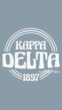 Kappa Delta Canvas, Kappa Delta Shirts, Delta Logo, Kappa Delta Sorority, College Sorority, Sorority Canvas, Sorority Paddles, Sorority And Fraternity, Sorority Shirts