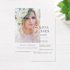 Elegant Border | Photographer Vertical Business Card