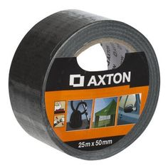 Taśma naprawcza 50 mm x 25 m czarna tkaninowa AXTON Leroy Merlin, Tape, Tools, Dom, Instruments, Band, Ice