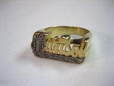 VINTAGE 14K YELLOW GOLD & DIAMOND NAME ' MARISOL ' ESTATE RING SIZE 8.25 #180 Estate Rings, Class Ring, Rings For Men, Scrap, Yellow, Diamond, Gold, Free, Ebay
