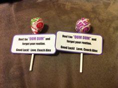 ... Dum dum lolipop, cheer gram, candy gram, candy sayings, coaches gift