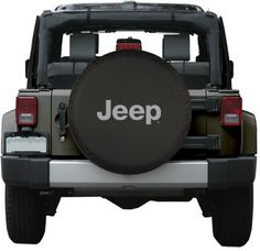 """32"""" Jeep Logo Tire Cover - (Black Denim Vinyl) - Silver Print - Made In The Usa, 2015 Amazon Top Rated Tire Accessories & Parts #AutomotivePartsandAccessories"""