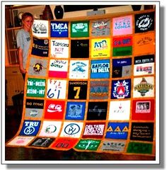 I'm saving several of the boys shirts - hopefully one day we can do this - T-shirt quilt
