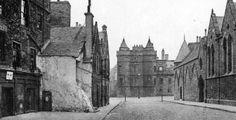 Old ancestry visit genealogy Scottish family history photograph image of Abbey Strand street in Edinburgh, Scotland