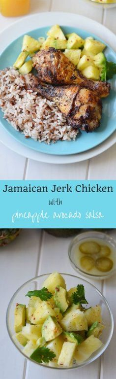 This Jamaican Jerk Chicken with pineapple avocado salsa is so ...