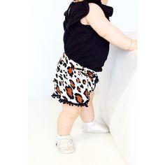 Leopard Mini Pom Shorties || 6m, 12m, 18m, 2T, 3T, 4T, 5T || Pom Pom Shorts #pompomshorts #babyfashion #kidsfashion