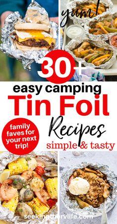 Tin Foil Meals, Camping Foil Meals, Easy Campfire Meals, Camping Food Make Ahead, Camping Meal Planning, Foil Packet Meals, Camping Menu, Campfire Food, Easy Meals