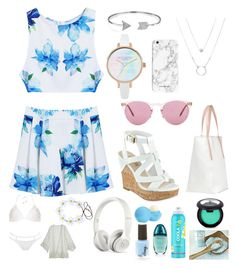 """""""SEA FEELS"""" by colourfuldemon ❤ liked on Polyvore featuring GUESS, Bling Jewelry, Oliver Peoples, Beats by Dr. Dre, Eos, COOLA Suncare, Calvin Klein, MOEVA, Dorothy Perkins and Calypso St. Barth"""
