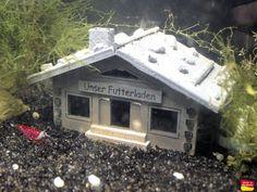 Haus - Futterladen - Deko Aquarium Haus Höhle CPO Fische Versteck