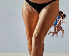 Julita Malinowska, Escaping from the painting VII, from the painting VII - Return on Art< Human Behavior, Oil On Canvas, Female, Painting, Artists, Artworks, Hearts, Times