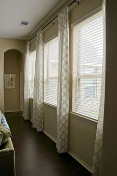 Window Treatment Really Good Idea Splitting It In 2 Pair Of