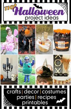Design Dazzle - Over 110 fabulous Halloween ideas! From costumes to parties, crafts and home decor, recipes and free printables, we have so many fun ideas to share!