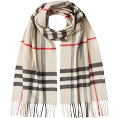 Burberry Shoes & Accessories Check Print Cashmere Scarf