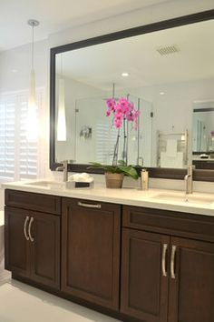 Modern Bathroom Vanities, Bathroom Designs, Kitchen Designs, Master Bath  Remodel, Bed Wall, Bath Ideas, Sink, Laundry Room, Cherry