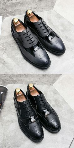 666ba81ad679 US  25.4 Prelesty British Style Autumn Brogue Men Formal Footwear Wingtip Shoes  Leather Party Mixed Color