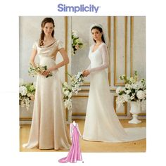 Wedding Dress Pattern Simplicity 1909 Bust 30 to 36 by CynicalGirl