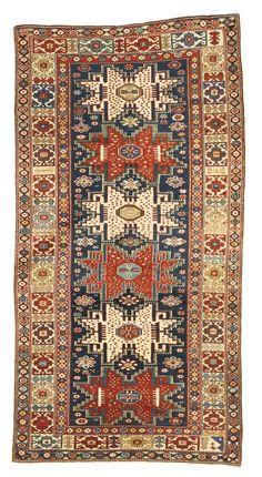 Caucasian Talish long rug, circa 1890