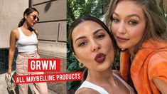 Here's a get ready with me using all Maybelline products. I got to attend NYFW with Maybelline and wanted to bring you along. Maybelline Products, Maybelline Fit Me Foundation, Bronzer, Concealer, Maybelline Colossal Mascara, Crayon Lipstick, Fall Makeup Tutorial, Hi Babe, Living On The Edge