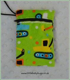 Green Lime Diggers Small Waterproof Bag Dummy by LittleBabybugsLtd