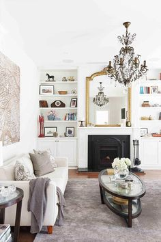 Super Ideas For House Beautiful Magazine Living Room Living Room White, New Living Room, Small Living Rooms, Living Room Interior, Cosy Fireplace, Living Room With Fireplace, Fireplace Ideas, Living Room Color Schemes, Paint Colors For Living Room