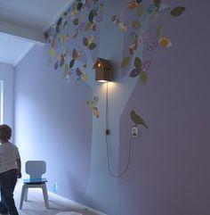 Birdhouse Lamp for Baby Nursery