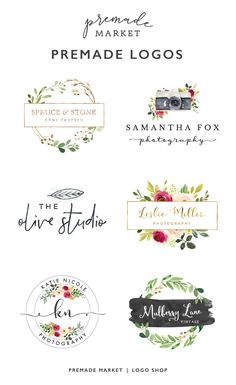 A premade logo design is a great way to start branding your creative business, especially when you're on a budget! All Premade Market logos are designed with small business in mind and will help you build a professional brand that stands out. Our logos are perfect for photographers, Etsy sellers, bloggers, and more!