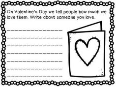 Writing Activities  February  Writing centers Starters and February