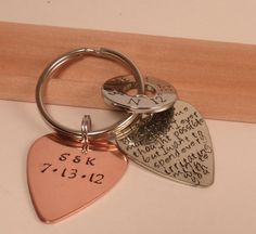 Love quotes Guitar Pick Key Chain-Perfect Gift for a Grooms Wedding gift-husband-boyfriend-bridesmaid