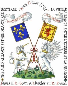 "October 23, 1295, the alliance between Scotland and France began... the ""Auld Alliance""."