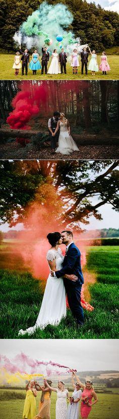 Smoke Bomb Wedding Photographs Ideas Photos Images